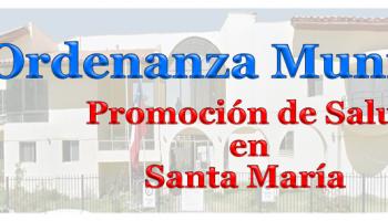 Ordenanza Municipal Sobre Promoción de Salud en Santa María